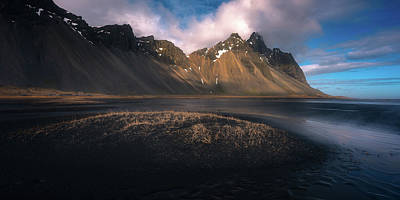 Beach Landscape Photograph - Mount Vestrahorn by Tor-Ivar Naess