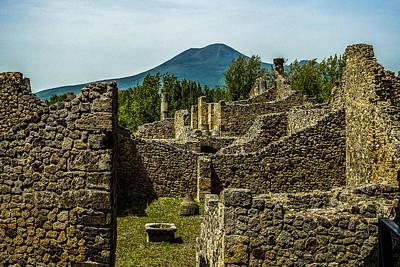Photograph - Mount Vesuvius And Pompeii by Marilyn Burton
