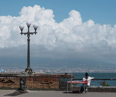 Photograph - Mount Vesuvius Hidden By Cloud by Jocelyn Kahawai