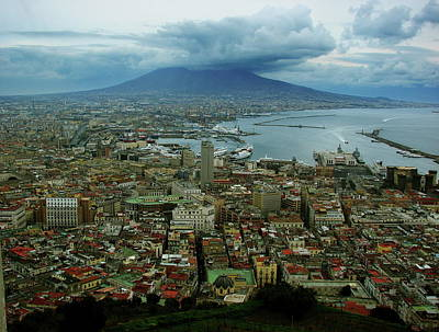 Photograph - Mount Vesuvius Naples It by Brett Winn