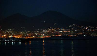 Photograph - Menacing Mount Vesuvius Shadows Naples Evening Departure by Allan Levin