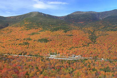 Photograph - Mount Washington And Pinkham Notch In Autumn by John Burk
