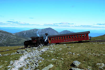 Photograph - Mount Washington Cog Railroad by Sherman Perry