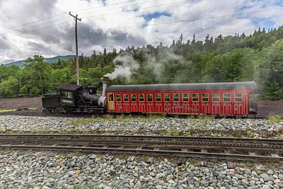 Photograph - Mount Washington Cog Railway Locomotive Waumbek 2 by Brian MacLean