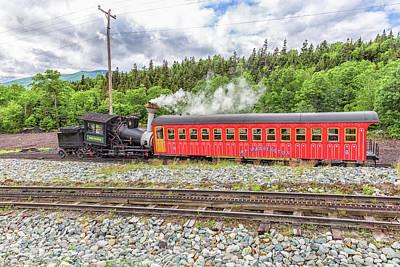 Photograph - Mount Washington Cog Railway Locomotive Waumbek by Brian MacLean