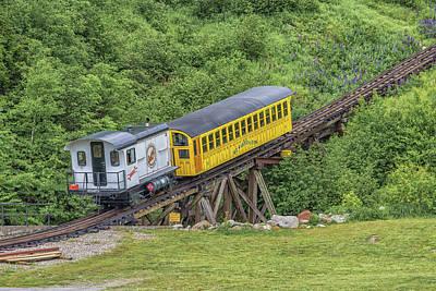 Photograph - Mount Washington Cog Railway Metallak by Brian MacLean