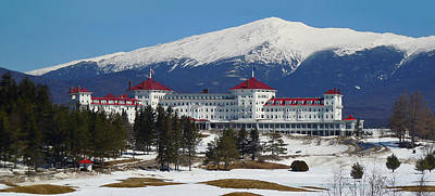 Photograph - Mount Washington Hotel In Early Spring by Nancy Griswold