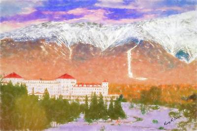 Digital Art - Mount Washington Hotel. by Rusty R Smith