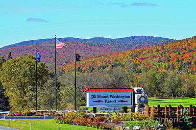 Photograph - Mount Washington Resort Entrance by Patti Whitten