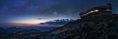 Photograph - Mount Washington Summit Milky Way Panorama by Chris Whiton