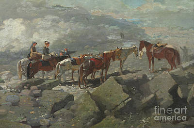 Guides Painting - Mount Washington by Winslow Homer