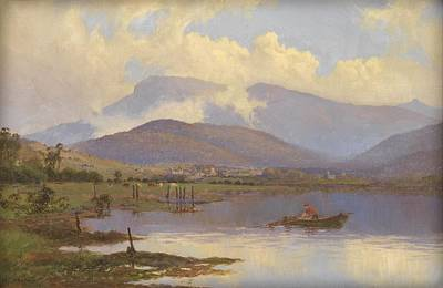 Abstract Painting - Mount Wellington, O Brien Bridge And From The Derwent By W.c. Piguenit C1910 by Celestial Images