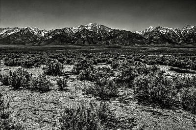 Photograph - Mount Whitney From The Western Boundary Of Manzanar Concentratio by Roger Passman