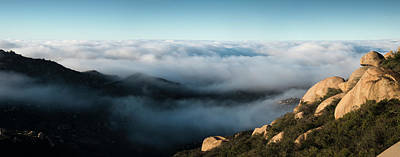 Sunrise Photograph - Mount Woodson Clouds by William Dunigan