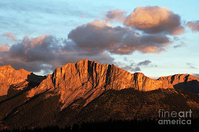 Photograph - Mount Yamnuska Alberta Canada by Bob Christopher