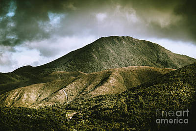 Western Sky Photograph - Mount Zeehan Tasmania by Jorgo Photography - Wall Art Gallery