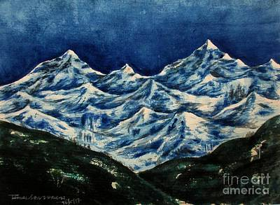 Painting - Mountain-2 by Tamal Sen Sharma