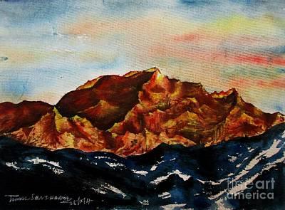 Painting - Mountain-3 by Tamal Sen Sharma