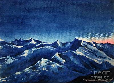 Painting - Mountain-4 by Tamal Sen Sharma