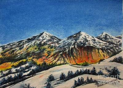 Painting - Mountain-5 by Tamal Sen Sharma