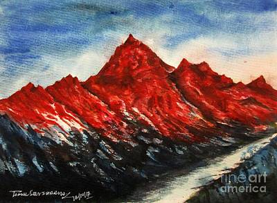Painting - Mountain-7 by Tamal Sen Sharma