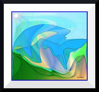 Digital Art - Mountain Abstract  3 by Iris Gelbart