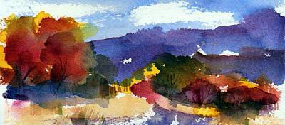 Painting - Mountain Autumn by Anne Duke