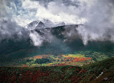 Clearing Photograph - Mountain Autumn by Leland D Howard