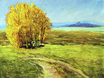 Painting - Mountain Autumn - Pastel Landscape by Barry Jones