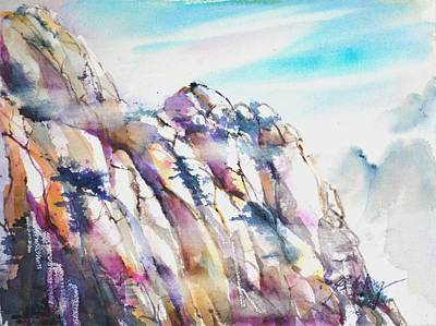 Painting - Mountain Awe #1 by Betty M M Wong