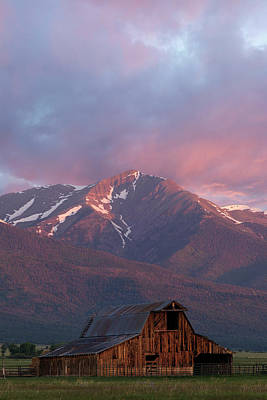 Photograph - Mountain Barn by Aaron Spong