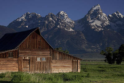 Old West Photograph - Mountain Barn by Andrew Soundarajan