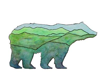 Painting - Mountain Bear by Kim W Nolan