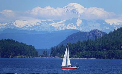 Photograph - Mountain Behind Sailboat by Rick Lawler