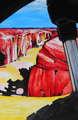 Painting - Mountain Bike Moab Slickrock by Susan M Woods