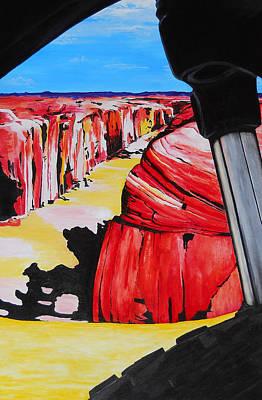 Mountain Bike Moab Slickrock Print by Susan M Woods