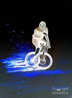 Brakes Mixed Media - Mountain Bike Mtb by Gordon Lavender