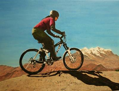 Painting - Mountain Bike Ride In Bolivia by Betty-Anne McDonald