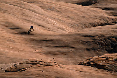 Natural Forces Photograph - Mountain Bike Riding by Bill Hatcher