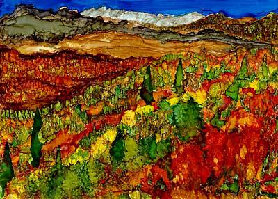 Joy Dorr Painting - Mountain Bikes by Joy Dorr