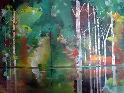 Painting - Mountain Birch by Gary Smith