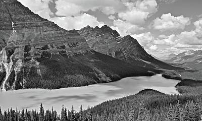 Photograph - Mountain Black And White by Frozen in Time Fine Art Photography
