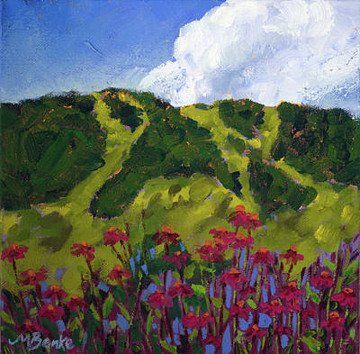 Painting - Mountain Blooms by Mary Benke