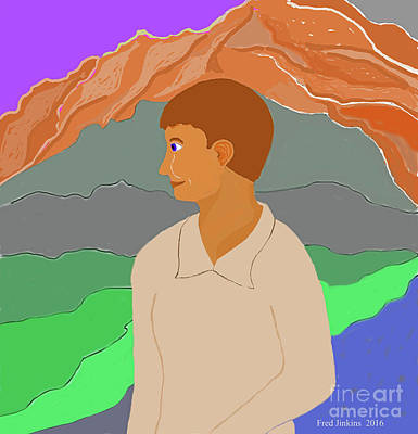 Mountain Boy Art Print by Fred Jinkins