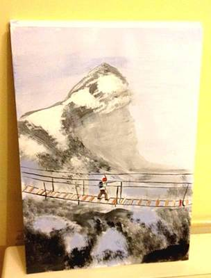 Painting - Mountain Bridge by Audrey Pollitt