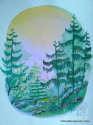 Painting - Mountain Brook by Anna Folkartanna Maciejewska-Dyba