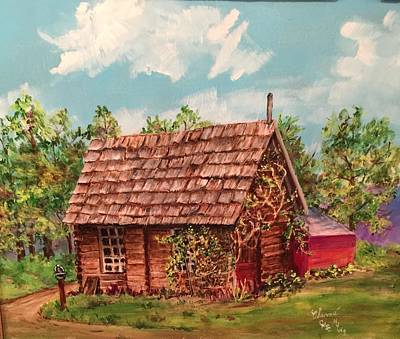 Painting - Mountain Cabin by Charme Curtin