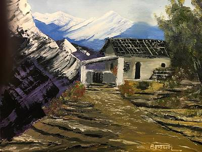 Painting - Mountain Cabin by David Bartsch