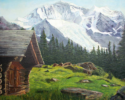 Photograph - Mountain Cabin by John Black