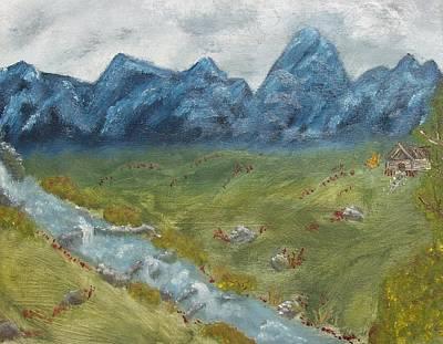 Mountain Cabin Art Print by Leiah Mccormick